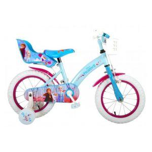 Vélo pour enfants La Reine des neiges 2 de Disney - Filles - 14 pouces - Bleu / Violet