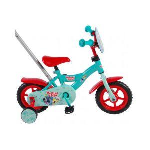 Woezel & Pip - vélo enfant - 10 pouces - bleu/rouge