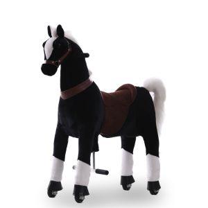 Kijana cheval à roulettesenfant marron grand