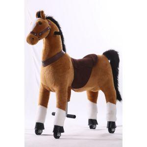 Kijana rijdend speelgoed paard bruin groot