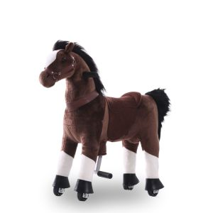 Kijana jouet d'équitation petit cheval marron chocolat