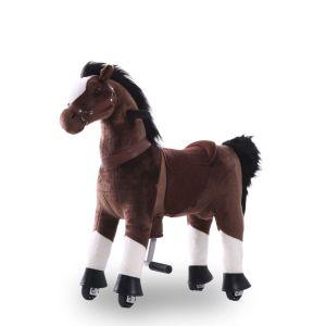 Jouet d'équitation cheval marron chocolat grand