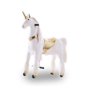 Kijana jouet d'équitation grande licorne dorée
