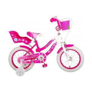 Volare Belle bicyclette pour enfants filles 14 pouces rose blanc 95% assemblé
