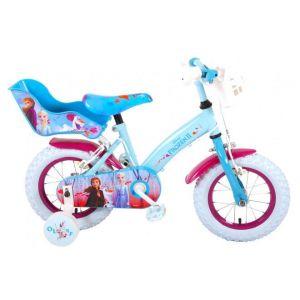 Vélo pour enfants Disney Frozen 2 - Filles - 12 pouces - Bleu / Violet - 2 Freins à main