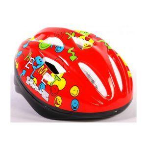Casque de vélo Volare - Casque Skate Deluxe Smileys rouge 51-55 cm