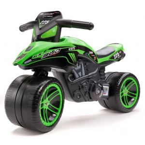 Falk moto enfant Kawasaki Bud Racing verte