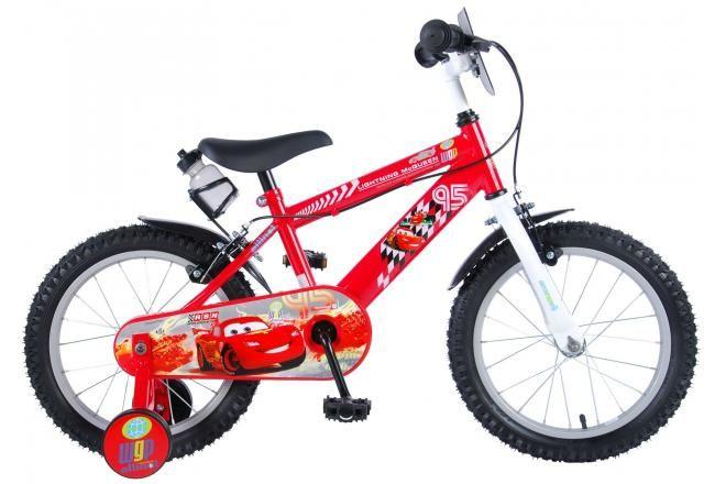Vélo pour enfants Disney Cars - Garçons - 16 pouces - Rouge - 2 freins à main