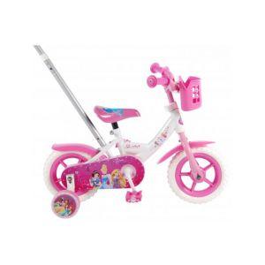 Vélo pour enfants Disney Princess - Filles - 10 pouces - Rose / Blanc
