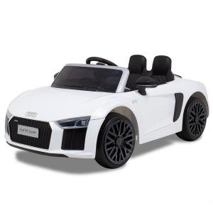 Audi voiture électrique pour enfants R8 cabriolet blanc