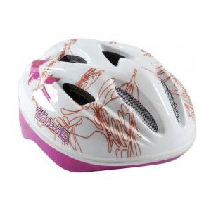 Casque de vélo Volare - Casque Skate Deluxe White Pink Leaves 51-55 cm