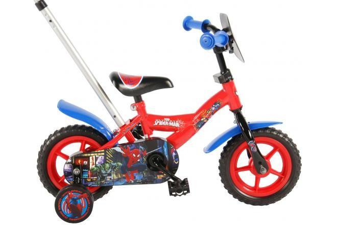 Vélo pour enfants Spider-Man - Garçons - 10 pouces - Rouge / Bleu