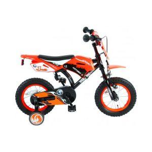 Volare Moto Vélo Enfants Garçons 12 pouces Orange 95% assemblé