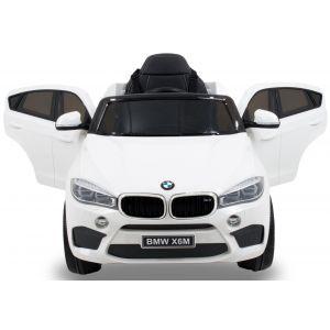 BMW voiture pour enfant X6 Blanche vue de face phares des portiers rétroviseurs latéraux