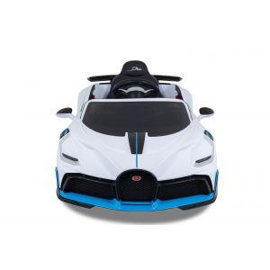 Bugatti Divo voiture pour enfant blanc de face prijstechnisch vehicle pour enfant