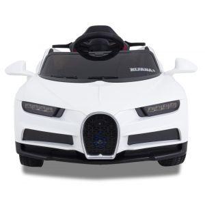 Sport pour enfant Bugatti style roues volant accélérateur vue de face