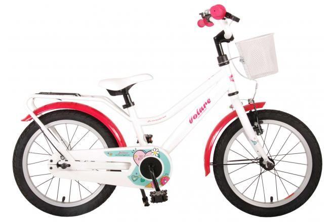 Volare Brilliant vélo enfant filles 16 pouces blanc 95% assemblé