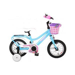 Volare Brillant vélo enfants filles 12 pouces bleu 95% assemblé
