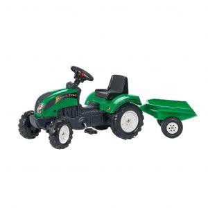 Falk tractor trac set groen traptractor