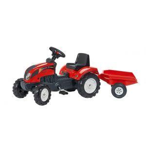 """Falk tracteur à pédales pour enfant """"trac"""" rouge"""