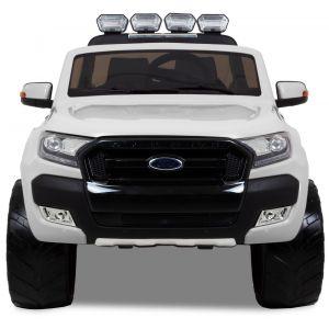 Ford Ranger voiture pour enfant blanche vue de face phares des portiers rétroviseurs latéraux