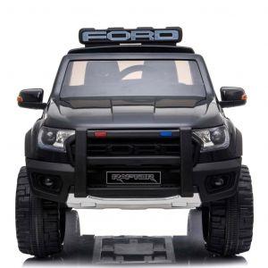 Voiture enfant police Ford Raptor noir de face prijstechnisch vehicle pour enfant