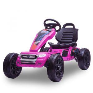 Ford kart à pédales rose enfant