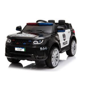 Voiture enfant police Land Rover noire
