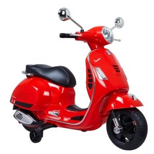 Vespa GTS scooter enfant rouge prijstechnisch vehicle pour enfant