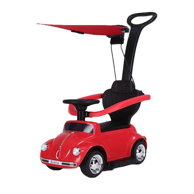 Volkswagen Beetle voiture porteur + pare-soleil rouge enfant