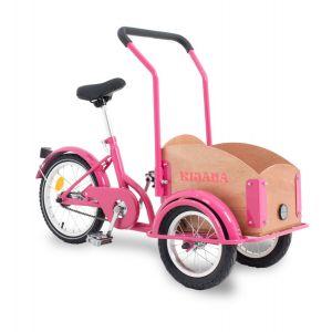 Kijana mini vélo cargo pour enfant rose