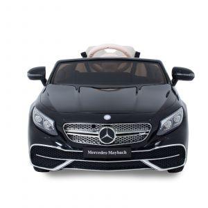 Maybach voiture pour enfant S650 cabriolet noir de face prijstechnisch vehicle pour enfant