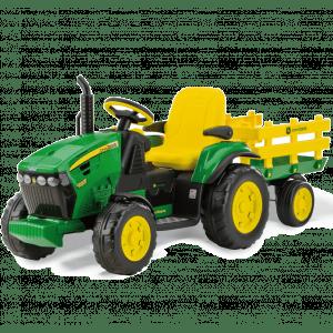 Peg Perego tracteur enfants vert avec remorque John Deere