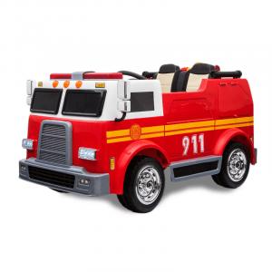 Kijana camion de pompier électrique enfant 2 places
