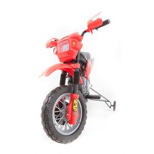 Motocross pour enfant couleur rouge vue de face rétroviseurs latéraux pneus phares
