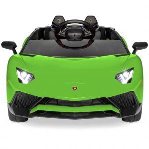 Voiture Lamborghini pour enfant verte de face prijstechnisch vehicle pour enfant