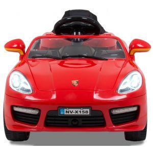 Speedster OC pour enfant rouge 12v  roues volant accélérateur vue de face