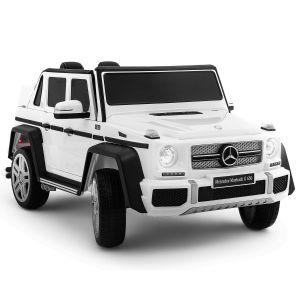 Voiture électrique pour enfants Mercedes Maybach G650 blanche