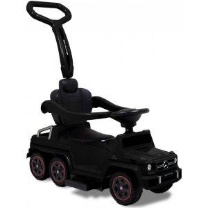 Trotteur pour enfant Mercedes G63 noir vue de face logo phares pneus