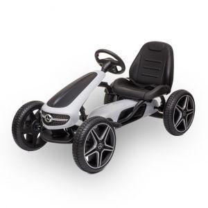 Mercedes kart à pédales enfant blanc