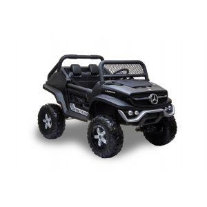 Mercedes elektrische kinderauto Unimog zwart 2-zits