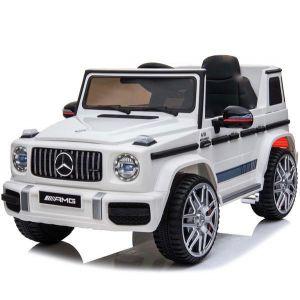 Mercedes G63 sport cabriolet voiture électrique enfants blanche