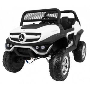 Mercedes Unimog Mini voiture électrique enfants blanche