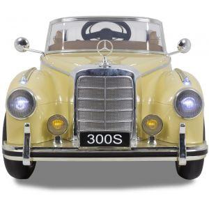 Mercedes 300s kinderauto crème vue de face phares pare-chocs logo rétroviseurs latéraux
