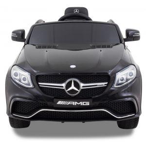 Mercedes pour enfant GLE63 coupé - noir roues volant accélérateur vue de face