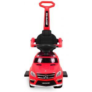 Mercedes trotteur GL63 rouge roues volant