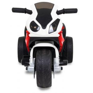 BMW moto pour enfant mini rouge accélérateur vue de face