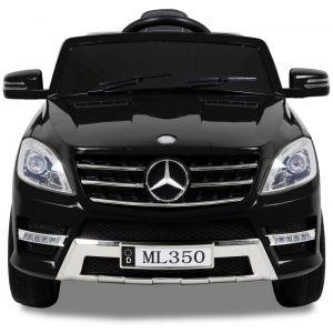 Mercedes pour enfant ML 350 noir vue de face logo pare-chocs phares