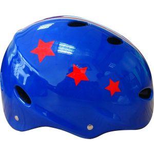 Move casque de vélo enfant bleu avec étoiles rouges XS
