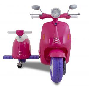 Scooter électrique pour enfant Vespa avec side-car rose prijstechnisch vehicle pour enfant